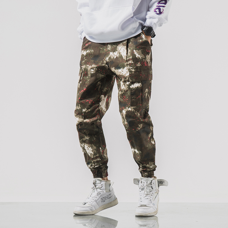 2020 Simple and comfortable New Style Fashion Camouflage Button Casual Trousers For Man 1