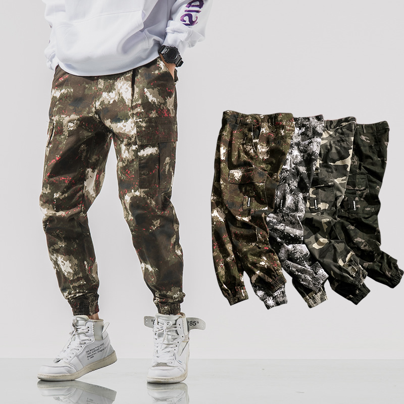 2020 Simple and comfortable New Style Fashion Camouflage Button Casual Trousers For Man 0