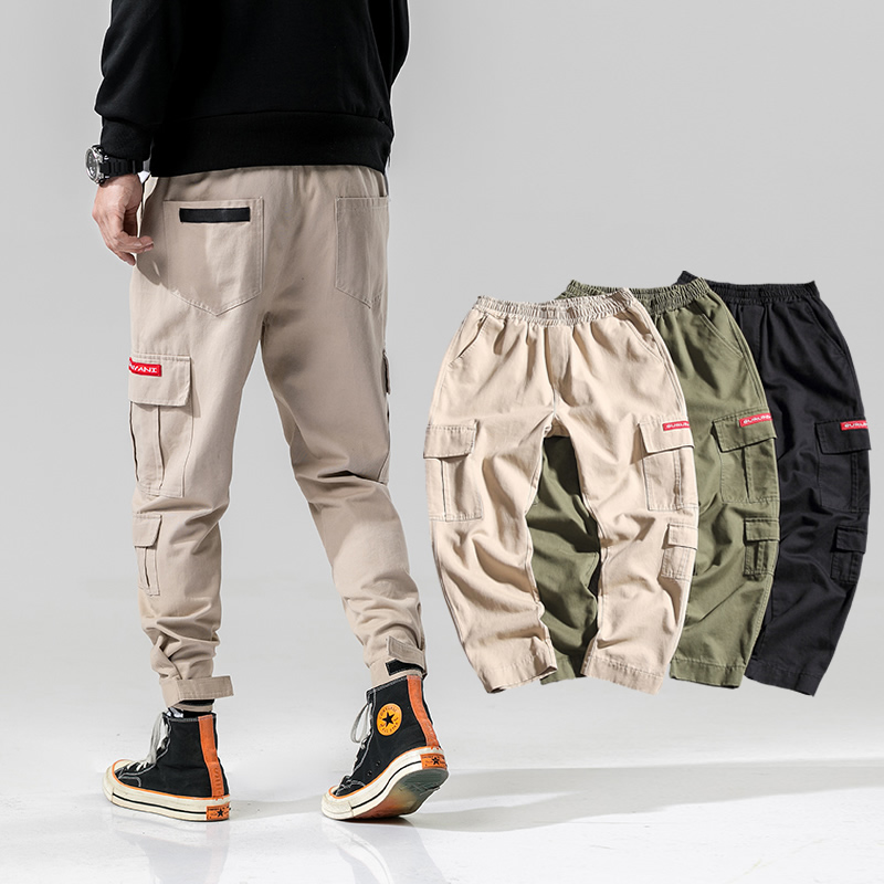 2020 Simple And Comfortable Fashion Camouflage Button Casual Trousers Straight-Leg Pants For Man 1