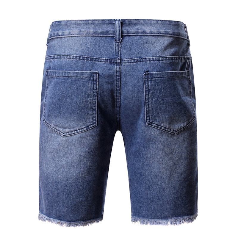 2020 Summer New Fashion Trend Street Style European And American Style Tattered Denim Shorts For men 3