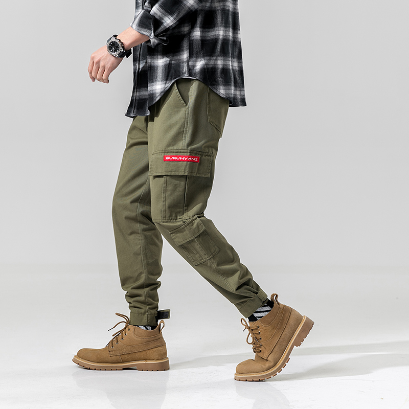 2020 Simple And Comfortable Fashion Camouflage Button Casual Trousers Straight-Leg Pants For Man 3