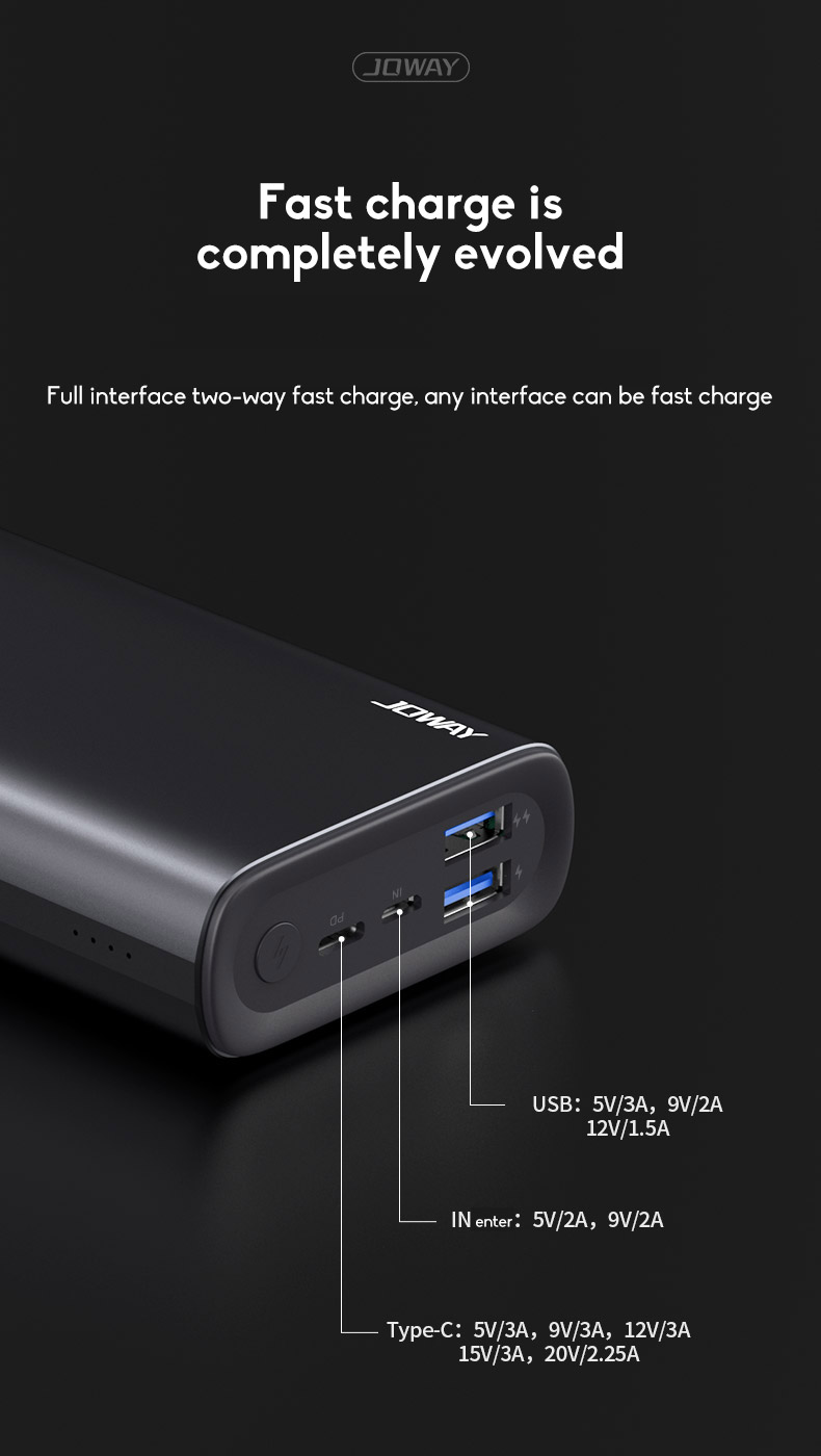 PD45W 20000mAh Wireless Power Bank Power Bank Polymer Battery Cell Ultra-thin Fast Charging For Outdoor Use 6
