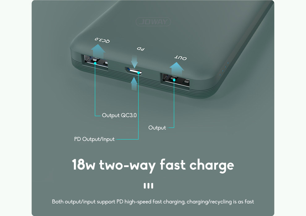 10000mAh Fast Charging Wireless Charging Power Bank Ultra-thin With Large Capacity 2