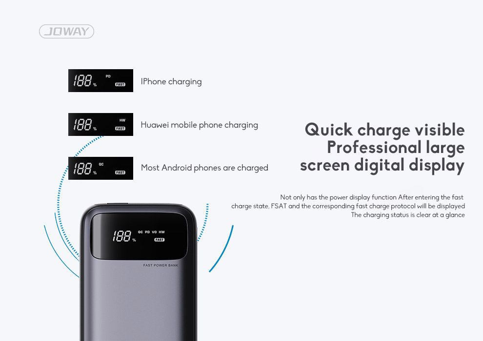 20000mAh Mobile Power Bank Super Large Capacity Universal Compact Power Bank Mini With LED Light Source 4