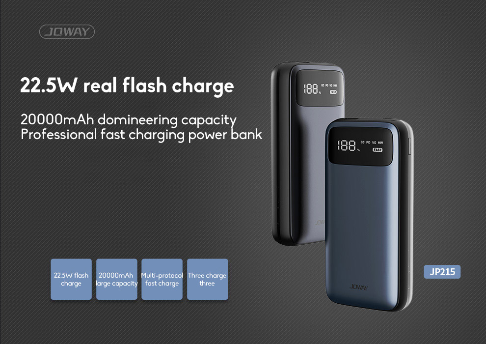 20000mAh Mobile Power Bank Super Large Capacity Universal Compact Power Bank Mini With LED Light Source 0