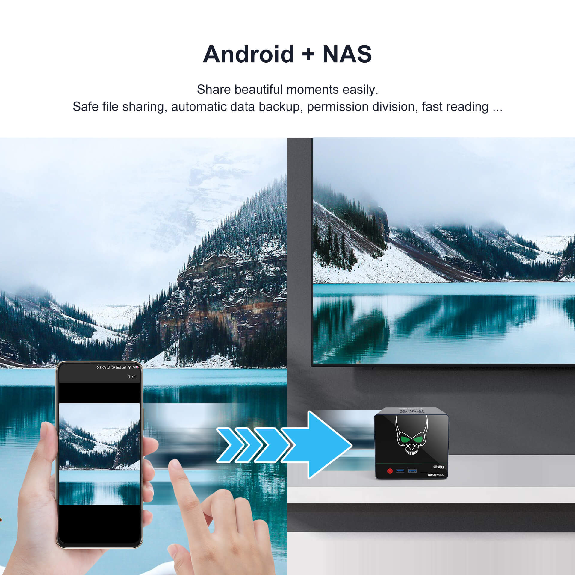 Beelink GS-King X S922X-H Android 9.0 Powerful TV Box 4/64G with NAS Dolby DTS HIFI 4K Support HDD Expansion 5