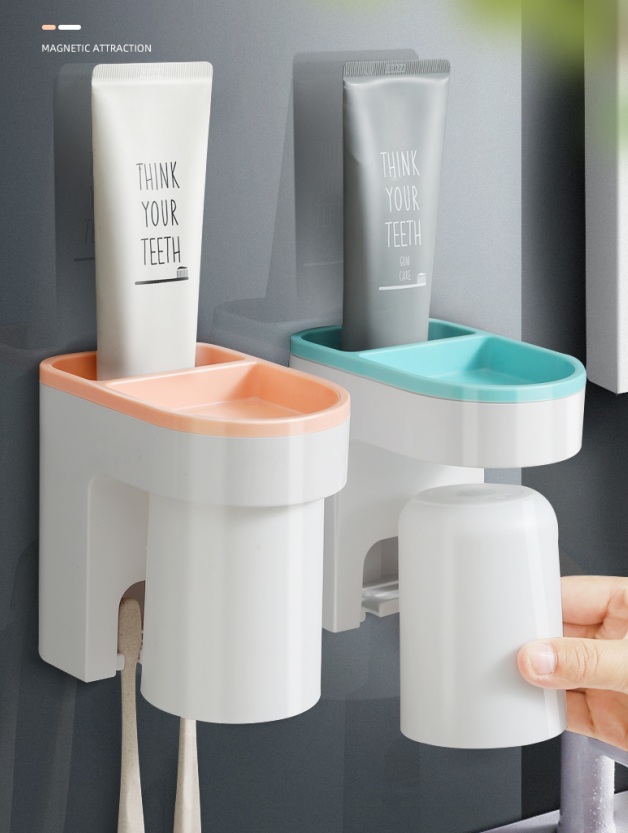 Mouthwash Cup Holder Device Holder Household Mouth Cup Brushing Cup Plastic Toothbrush Cup Wall-mounted Storage Rack Wall-mounted Dental Cylinder 5