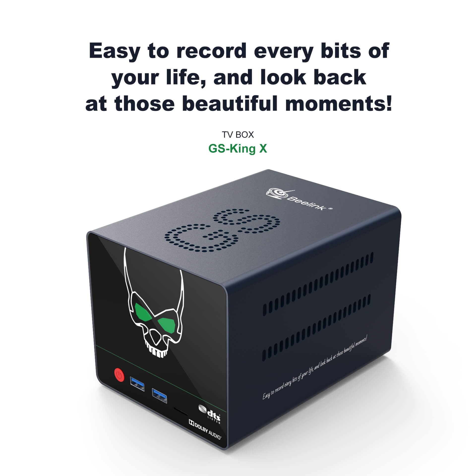 Beelink GS-King X S922X-H Android 9.0 Powerful TV Box 4/64G with NAS Dolby DTS HIFI 4K Support HDD Expansion 0