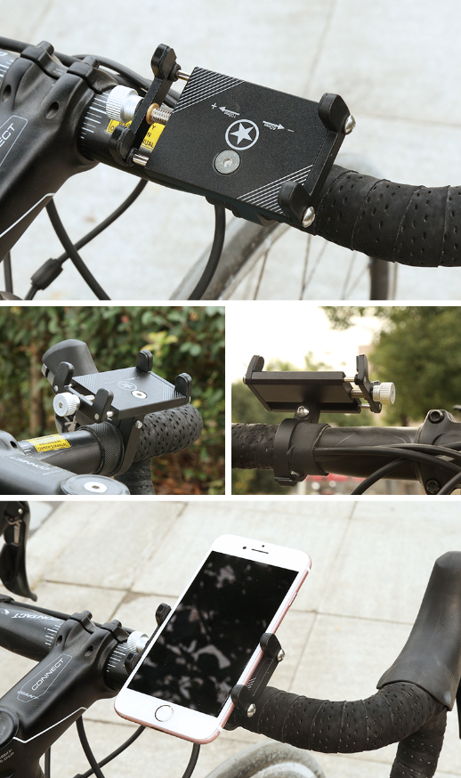 Aluminum Alloy Mobile Phone Holder Battery Car Bicycle Electric Motorcycle Shockproof Fixed Navigation Nracket 4