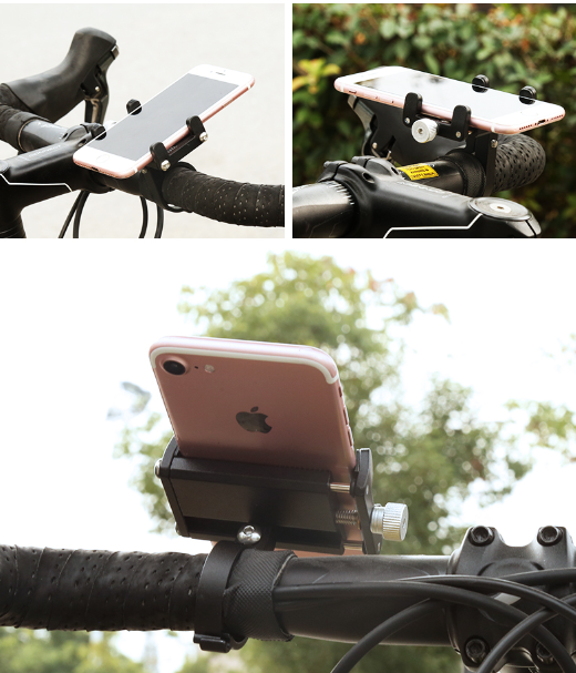 Aluminum Alloy Mobile Phone Holder Battery Car Bicycle Electric Motorcycle Shockproof Fixed Navigation Nracket 5