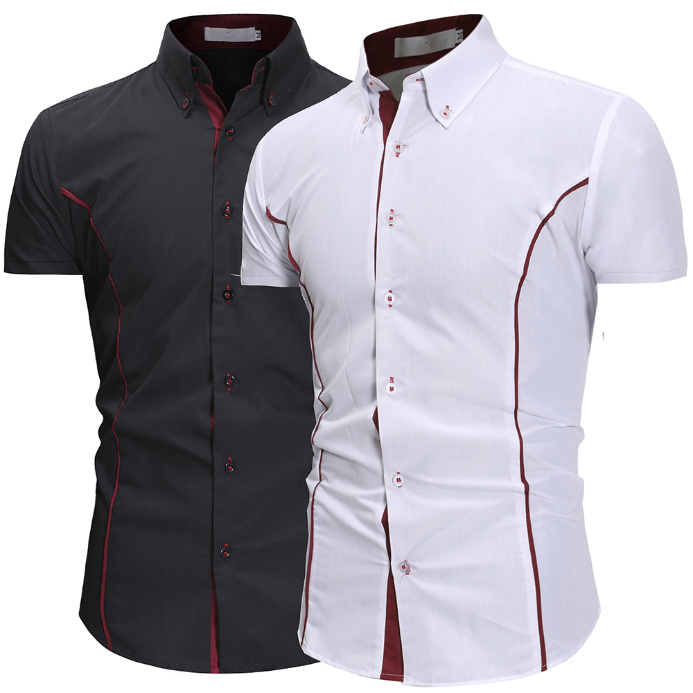 2020 Summer Assault Wind Men's Self-cultivation Tailored Personality Trim Men's Fashion Casual Short-sleeved Shirt 6