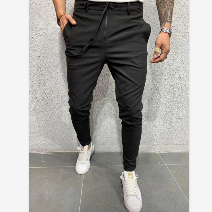 C120 2020 Autumn New Casual Jogging Trousers Long Pants Pure Color Sports Jogging Pants European and American Fashion Casual Pants For Men 3