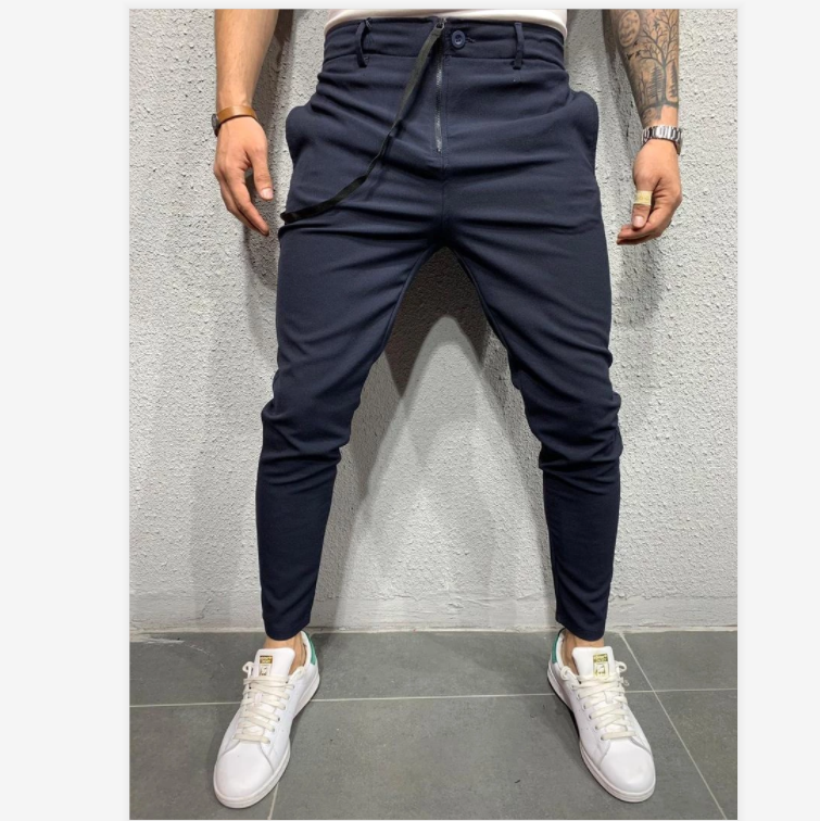 C120 2020 Autumn New Casual Jogging Trousers Long Pants Pure Color Sports Jogging Pants European and American Fashion Casual Pants For Men 5