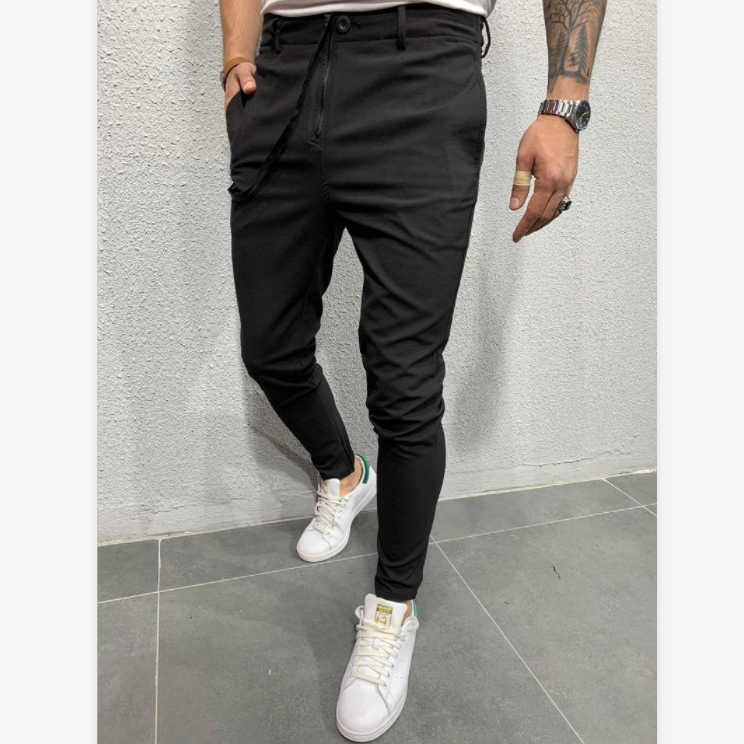 C120 2020 Autumn New Casual Jogging Trousers Long Pants Pure Color Sports Jogging Pants European and American Fashion Casual Pants For Men 2