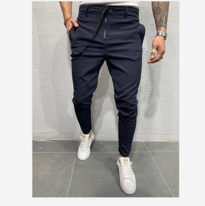 C120 2020 Autumn New Casual Jogging Trousers Long Pants Pure Color Sports Jogging Pants European and American Fashion Casual Pants For Men 4