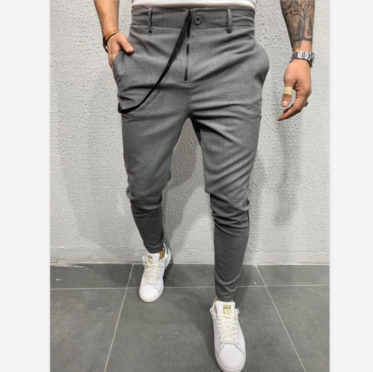 C120 2020 Autumn New Casual Jogging Trousers Long Pants Pure Color Sports Jogging Pants European and American Fashion Casual Pants For Men 1