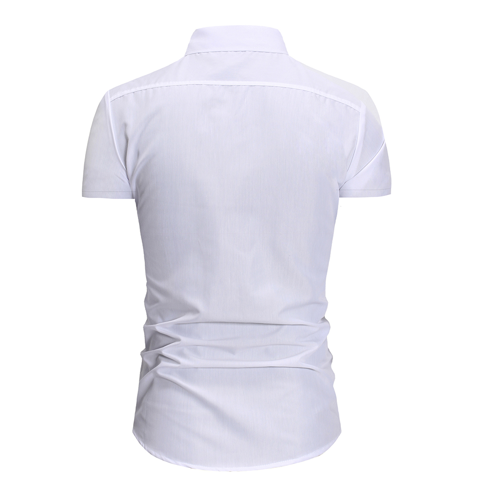 2020 Summer Assault Wind Men's Self-cultivation Tailored Personality Trim Men's Fashion Casual Short-sleeved Shirt 2