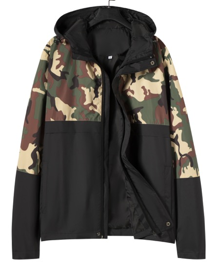 New Spring Print Jacket Men's Camouflage Korean Youth Hooded New Casual Jacket Tide Men's Spring And Autumn Clothes 0