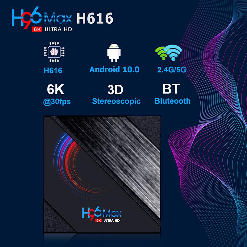 2020 Newest H96 Max ALLWINNER H616 TV Box  2GB 16GB Android 10.0 6K ULTRA HD OTT Box 0