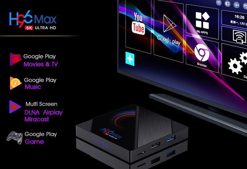 2020 Newest H96 Max ALLWINNER H616 TV Box  2GB 16GB Android 10.0 6K ULTRA HD OTT Box 1