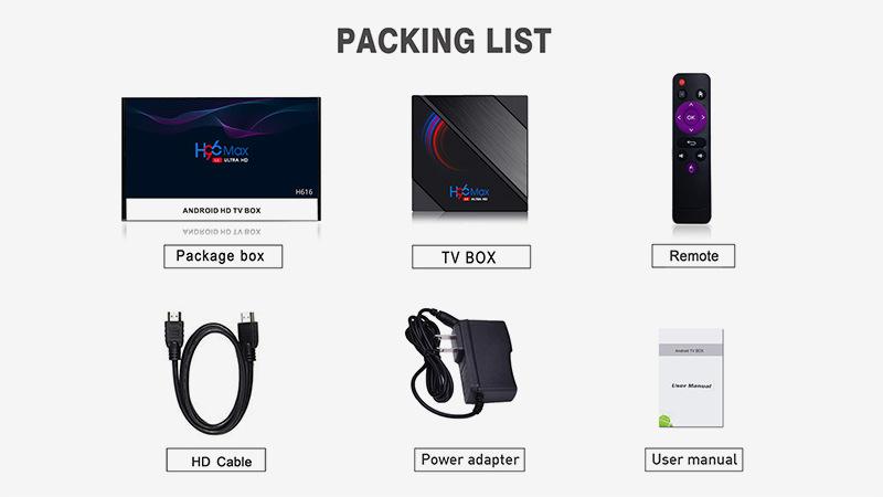 2020 Newest H96 Max ALLWINNER H616 TV Box  2GB 16GB Android 10.0 6K ULTRA HD OTT Box 8
