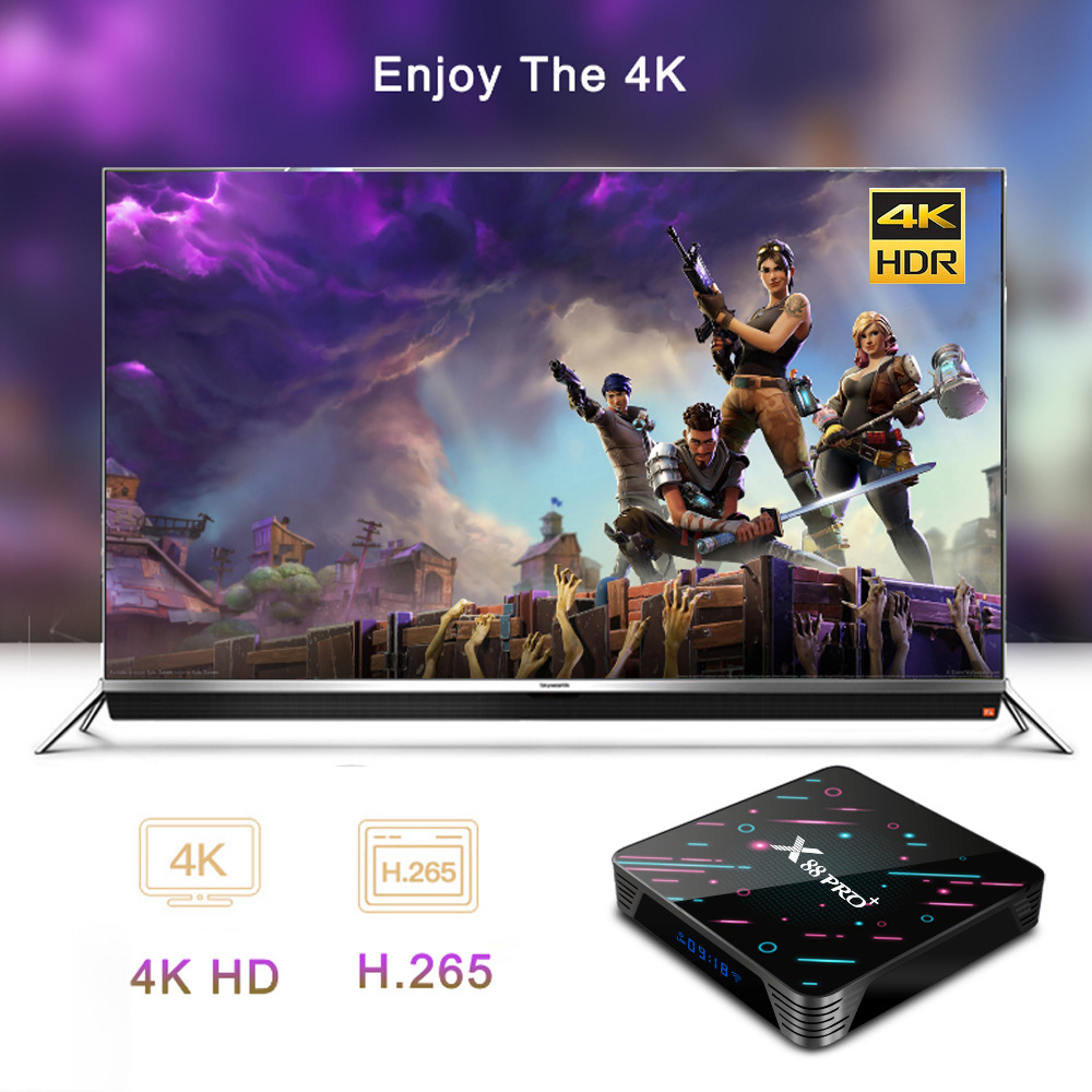 X88 PRO Plus Rockchip RK3368 TV Box 4K HDR Android 9.0 CPU 8-core Colorful Black 2