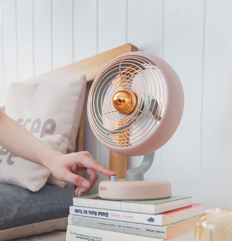 LOFREE Electric Fan Small Office Desktop USB Shaking Head Charging Silent Air Circulation Fan 5
