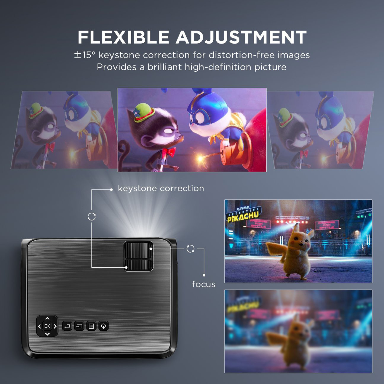 Hibeamer GC555 Mobile Phone Wireless Same Screen Home LED Projector HD 1080P Projector 7