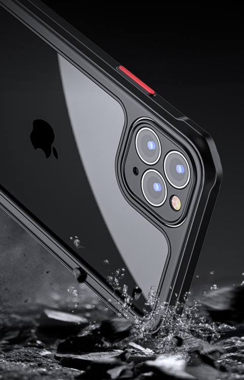 Suitable For Apple 11Pro Mobile Phone Shell Iphone12 Fine Hole Lens All-inclusive Soft Shell XR Four-corner Anti-fall X Protective Cover 0