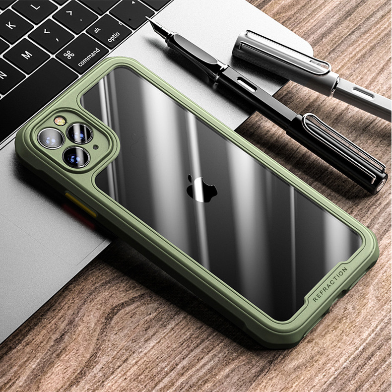 Suitable For Apple 11Pro Mobile Phone Shell Iphone12 Fine Hole Lens All-inclusive Soft Shell XR Four-corner Anti-fall X Protective Cover 6