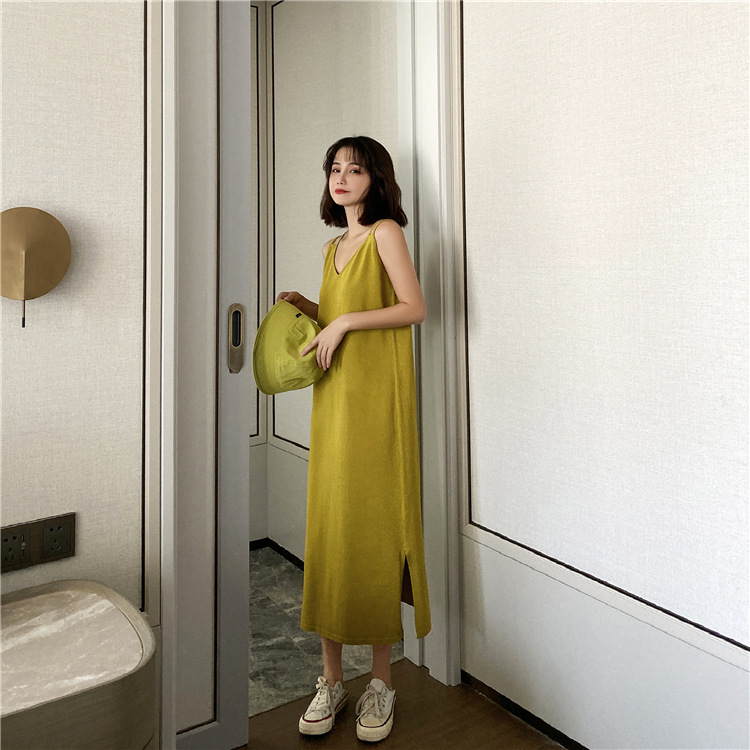 2020 New Sling Dress Large Size French Bellflower Skirt Age Reduction Thin Sweater For Ladies 6