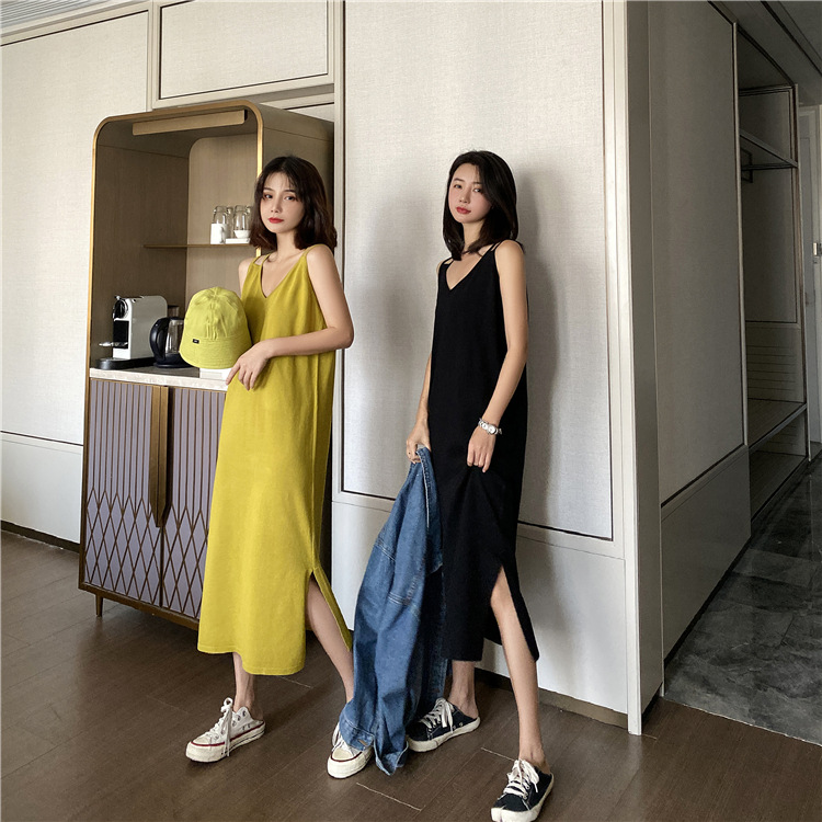 2020 New Sling Dress Large Size French Bellflower Skirt Age Reduction Thin Sweater For Ladies 5