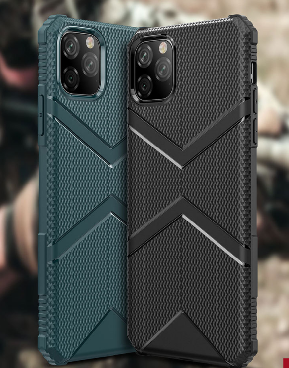For iPhone 11 Mobile Phone Shell Military Anti-fall XSMAX Shield Armor Four-corner Airbag XR Protective Sleeve Military Thickening PTU 2