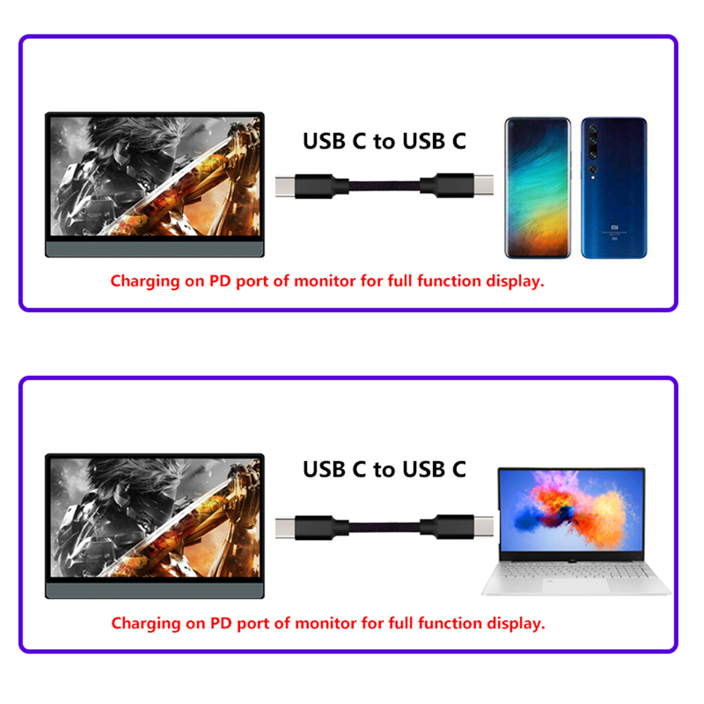 2020 New T13A Portable Display 13.3 Inch 1920*1080 1080P With Black Leather Case 8