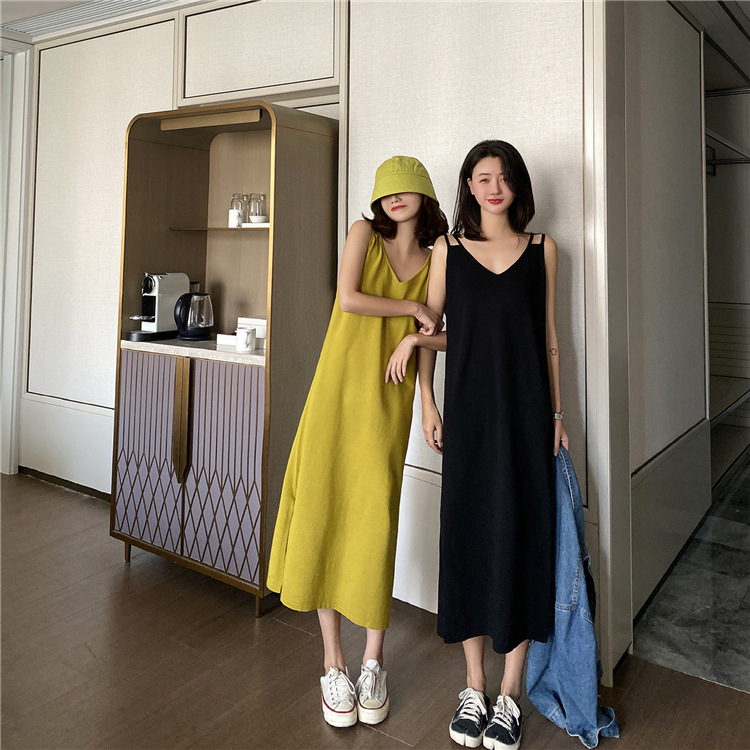 2020 New Sling Dress Large Size French Bellflower Skirt Age Reduction Thin Sweater For Ladies 4