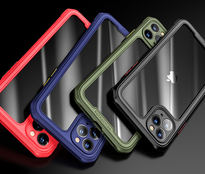 Suitable For Apple 11Pro Mobile Phone Shell Iphone12 Fine Hole Lens All-inclusive Soft Shell XR Four-corner Anti-fall X Protective Cover 5