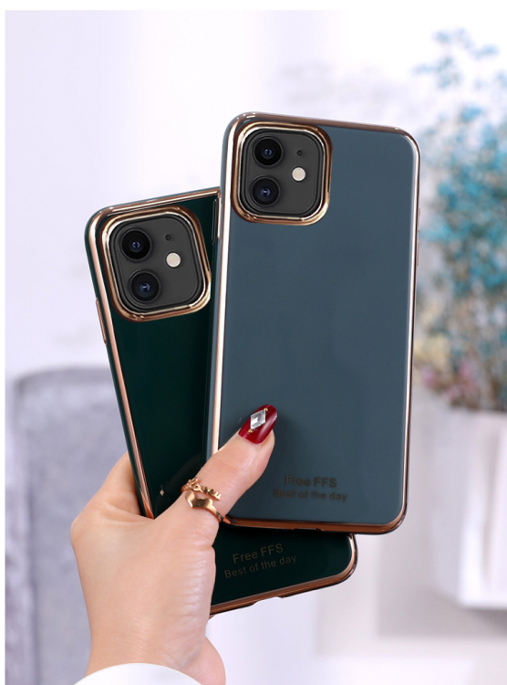 Suitable For iPhone11 Mobile Phone Shell 6D Electroplating TPU Apple SE2 Creative 7plus Protective Cover XSMax Anti-fall Shell 3