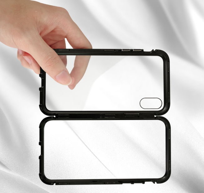 Suitable For iPhone11 Single-sided Glass Magneto Mobile Phone Case With Metal Frame Protective Cover 2