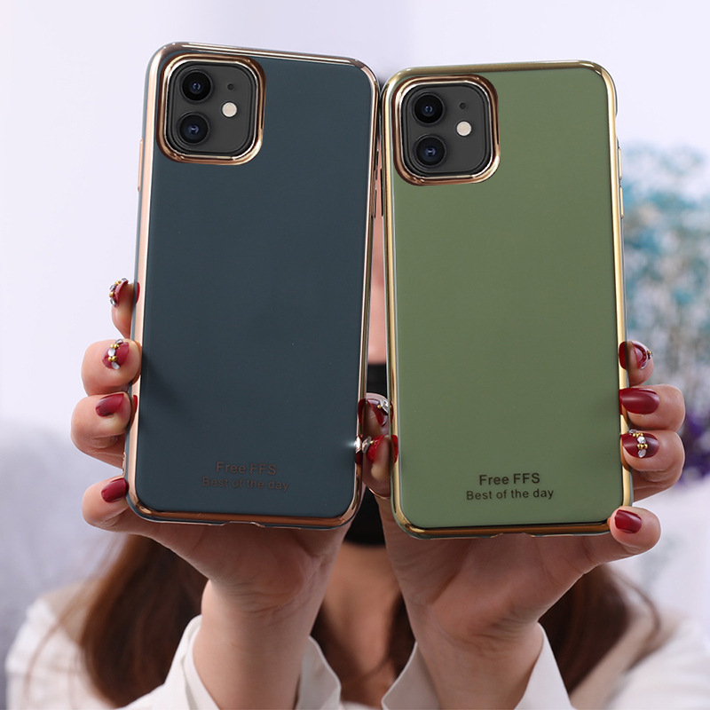 Suitable For iPhone11 Mobile Phone Shell 6D Electroplating TPU Apple SE2 Creative 7plus Protective Cover XSMax Anti-fall Shell 0