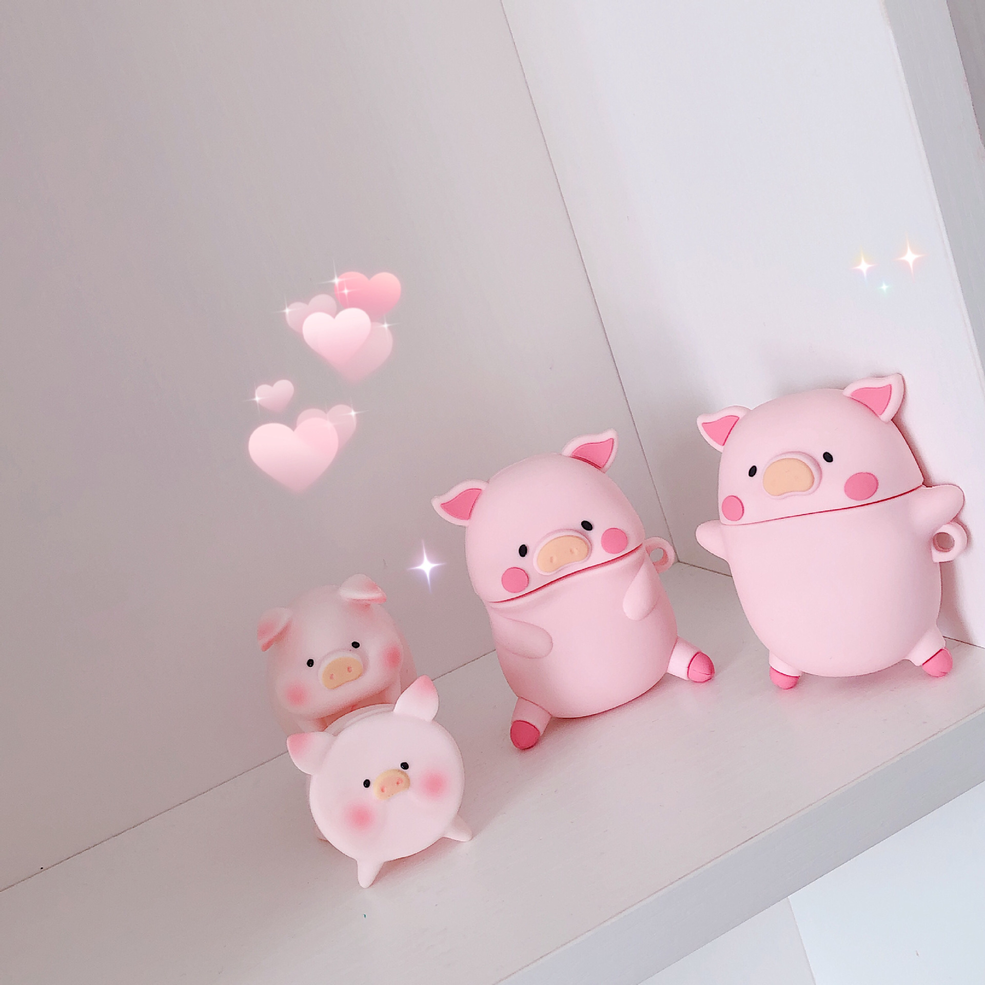 Cute Three-dimensional Expression Pig AirPods Pro Protective Case For Apple 1/2 Generation Bluetooth Headset Case Silicone Soft 6
