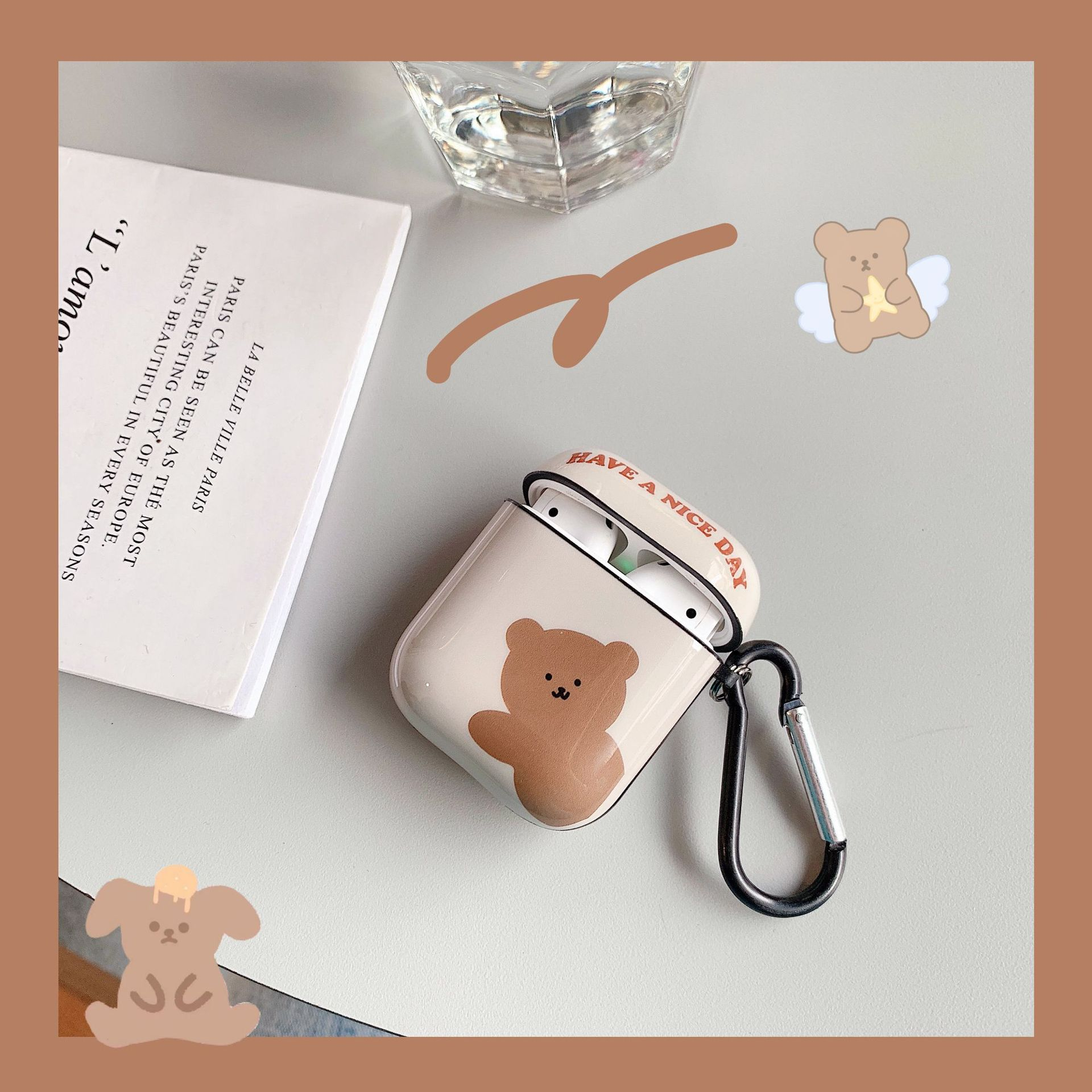 Bear AirPods Apple Earphone Case Drop Box Case Case New Personality Creative Silicone Female Male Pro Applicable 0