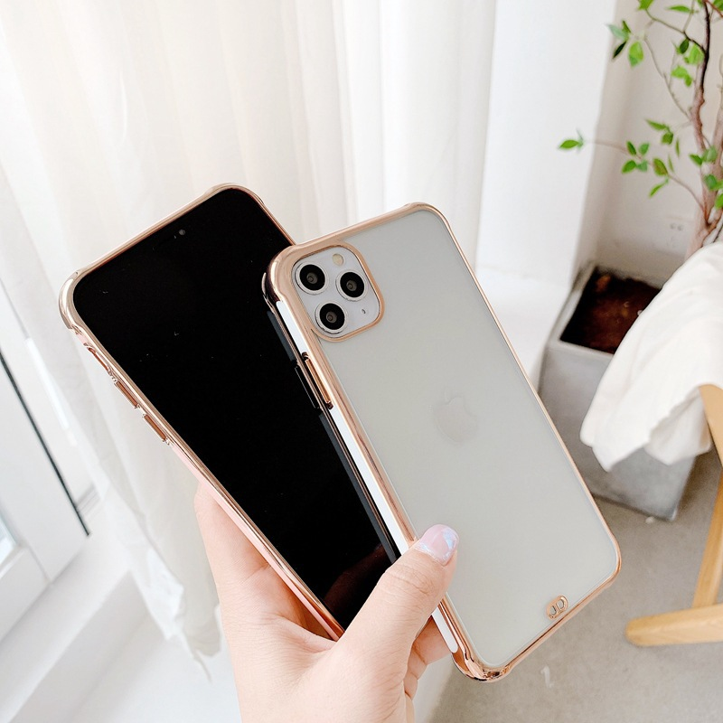 Suitable For Apple 11 Mobile Phone Case IPhoneSE2 Electroplating Matte Anti-fall Protective Cover 6