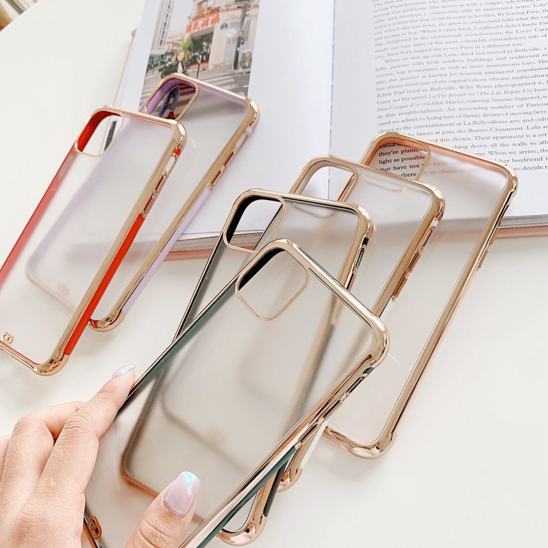 Suitable For Apple 11 Mobile Phone Case IPhoneSE2 Electroplating Matte Anti-fall Protective Cover 1