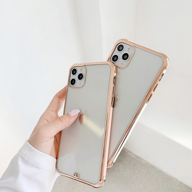 Suitable For Apple 11 Mobile Phone Case IPhoneSE2 Electroplating Matte Anti-fall Protective Cover 4