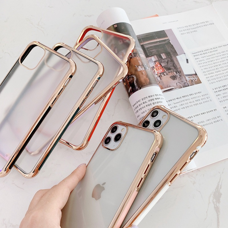 Suitable For Apple 11 Mobile Phone Case IPhoneSE2 Electroplating Matte Anti-fall Protective Cover 0