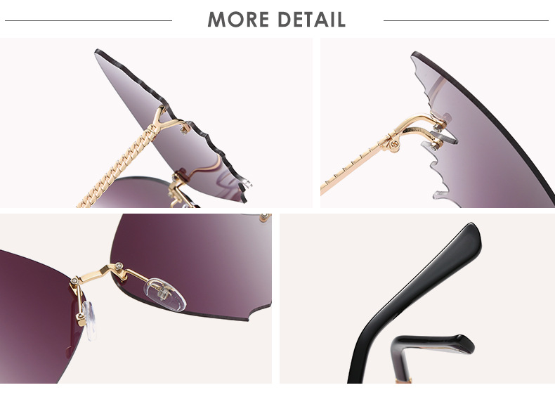 S2033 Butterfly Sunglasses Female Fashion Big Frame Gradient Color Sunglasses Trend Street Photography Sunglasses  10