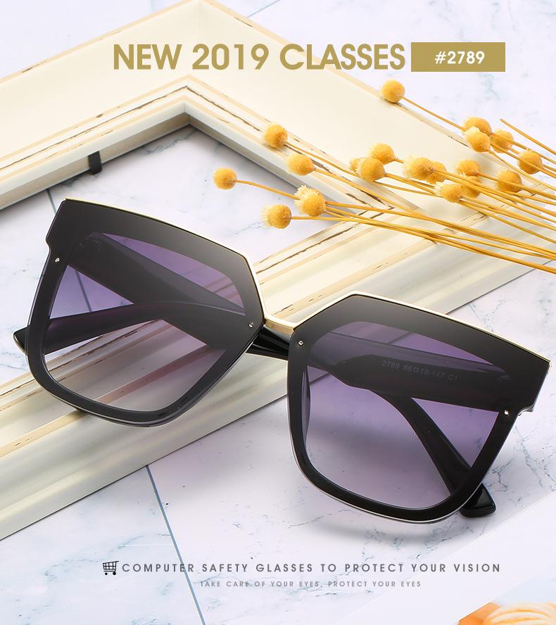 2020 New Box Sunglasses European And American Fashion Metal Accessories Sunglasses All-match Glasses 0