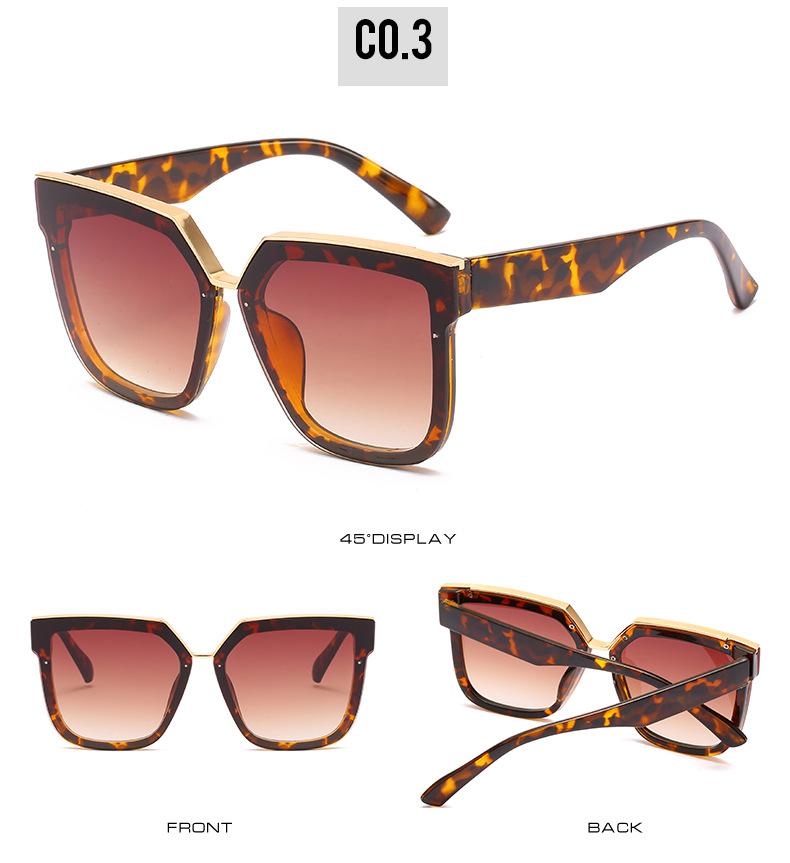 2020 New Box Sunglasses European And American Fashion Metal Accessories Sunglasses All-match Glasses 9