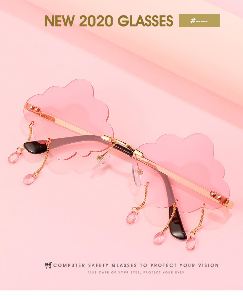 2020 New Personalized Rain Sunglasses Hot Cloud Glasses Fashion Exaggerated Milan Style Sunglasses 0