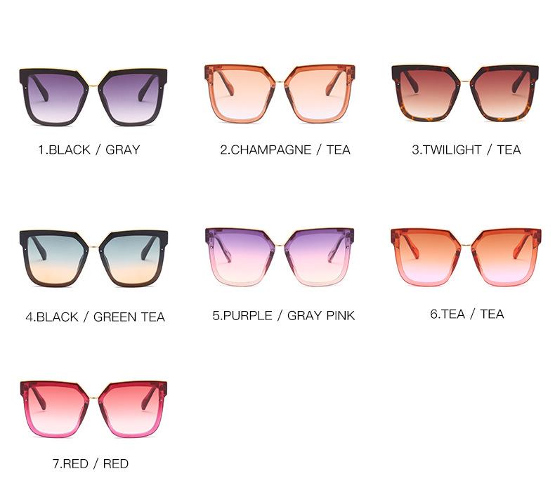 2020 New Box Sunglasses European And American Fashion Metal Accessories Sunglasses All-match Glasses 3